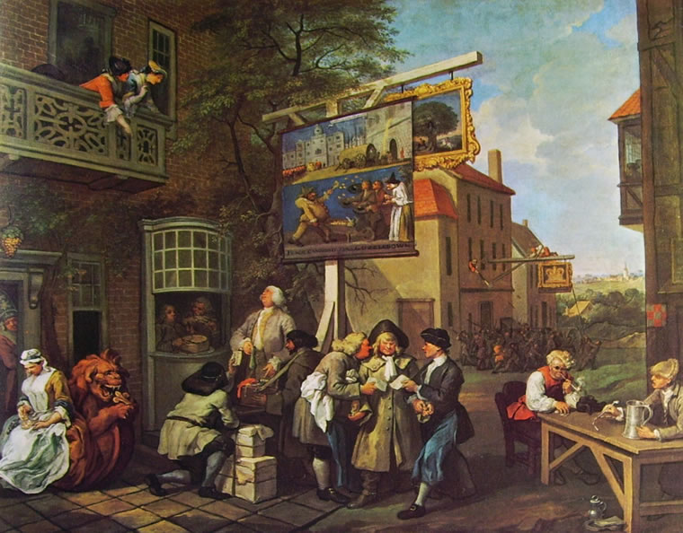 William Hogarth (London, 1697 - 1764),  An Election Entertainment: Canvassing for Votes.
